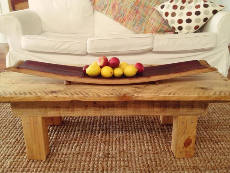 Oak Wide Wine Barrel Fruit Bowl / Platter / Cheese Board, Hand Made From  Recycled Wine Barrel Staves Made In Australia, Great Centrepiece
