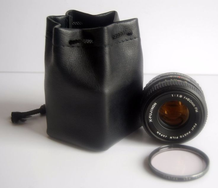 Fuji X-Fujinon Lens Camera 1:1.9 50mm FM Japan with Pentax Filter Leather Case  #FUJINON #SLRLens #CameraLens