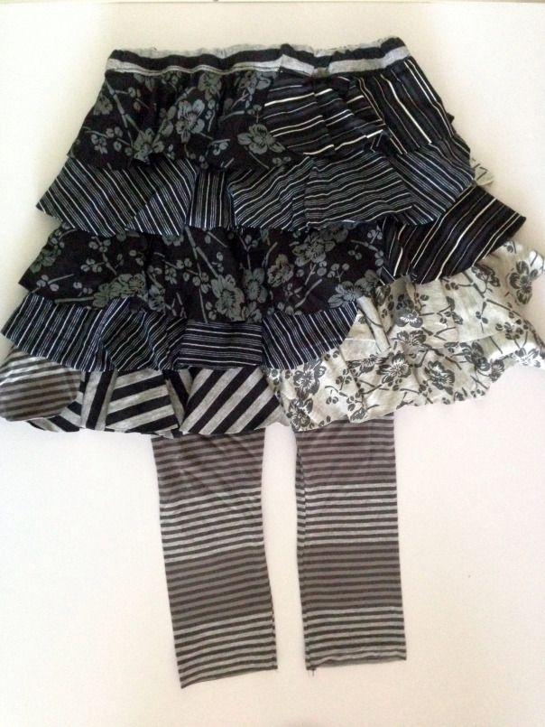 Lily Giggle Rosey Rhumba Skirt and Skeggings