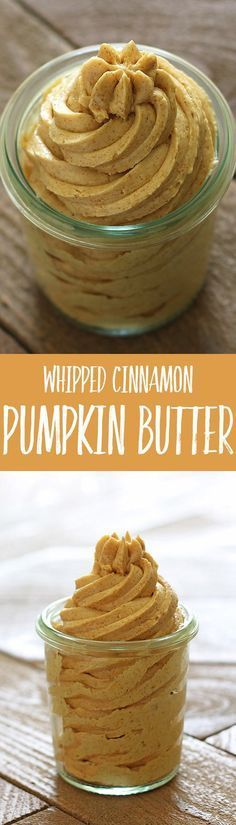Whipped Cinnamon Pumpkin Butter is bursting with fall flavors and perfect on bread, muffins, pancakes, waffles, and just about anything else! Make it ahead and keep it on hand!