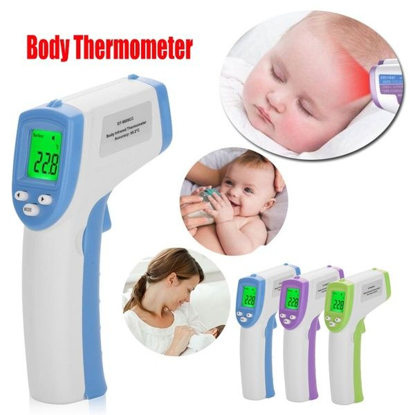 Non-Contact LCD Digital Infrared Thermometer Baby Forehead Temperature Meter