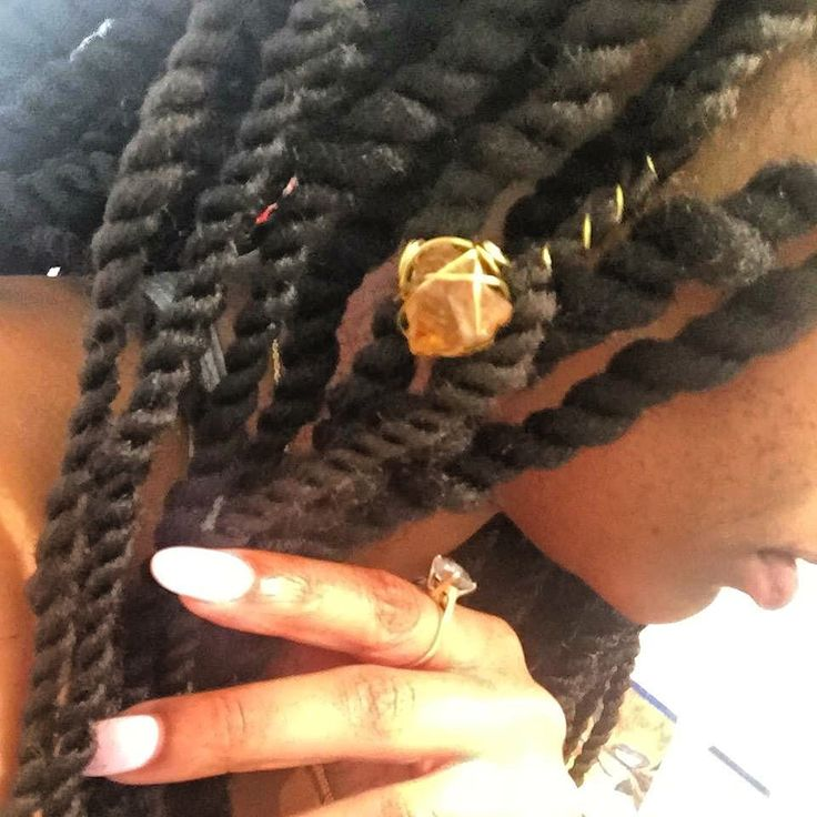 CLIENT VIEW  Marley Twists with custom tumbled yellow citrine loc and twist adornment.  Book online today StyleSeat.com/bristaytwistin TEXT 9194217551 for details and booking assistance #protectivestyles #naturalhair #naturalstyles #naturalhairstyles #naturalhairstylist #nchair #raleighhair #durhamhair #twists #marley #marleytwists #jewelry #hairjewelry #locjewelry #om #gold