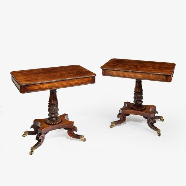 C.1815 Pair Of Regency Rosewood Side Tables, England