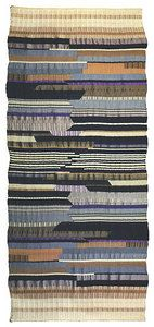 Wall hanging  Flat-weave with partly reversed harness Warp: cotton. Weft: wool and viscose 1923  260 x 112 cm  Museum für Gestaltung, Basel, Switzerland
