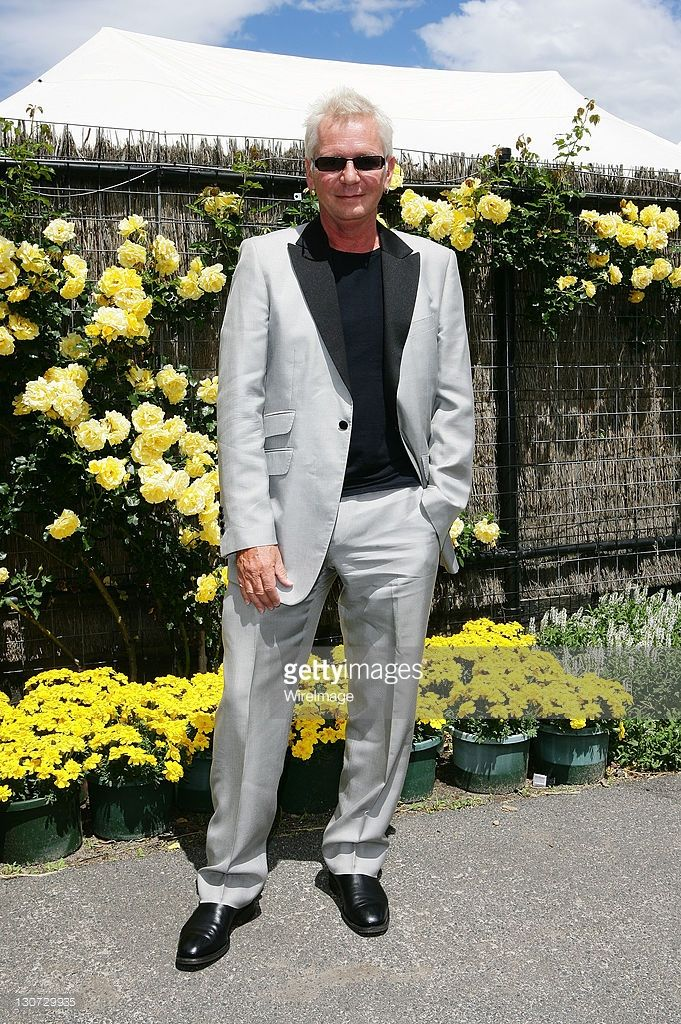 Iva Davies poses during Derby Day at Flemington Racecourse on October 29, 2011 in Melbourne, Australia.