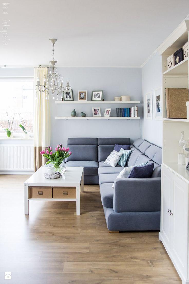 Aranżacja mieszkania 53m2 - Średni salon - zdjęcie od Meblościanka Studio