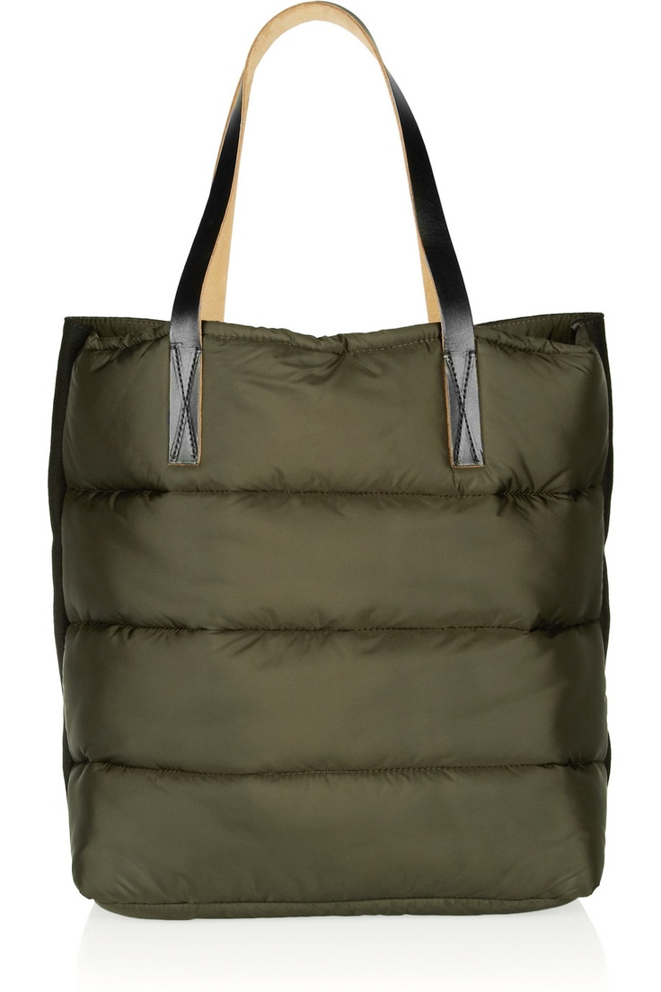 Marni | Quilted nylon and felt shopper tote | NET-A-PORTER.COM
