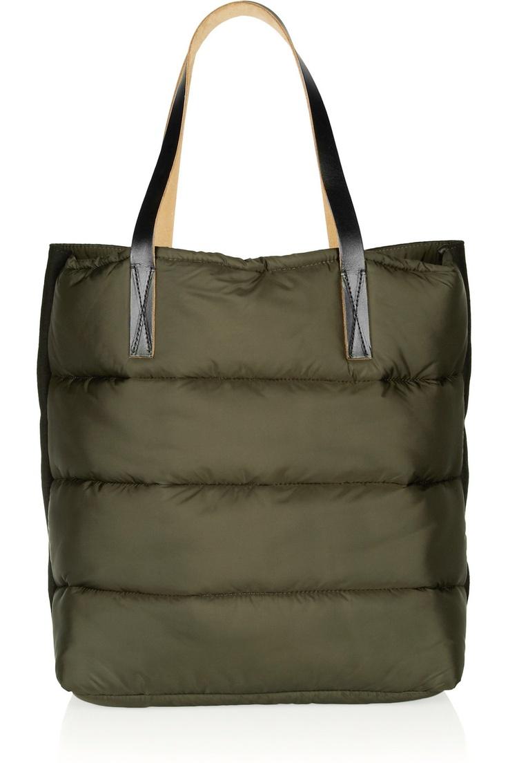 Marni | Quilted nylon and felt shopper tote | NET-A-PORTER.COM