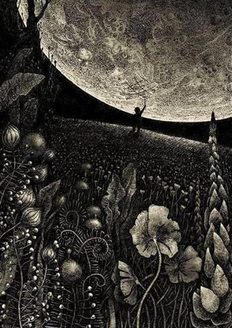 ♥Happy Big Summer Moon♥ Artwork Magdalena Korzeniewska via The Spirit that Moves Me