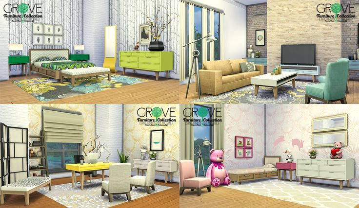 My Sims 4 Blog Grove Furniture Collection 9 New Objects