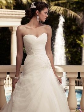Casablanca Bridal :: Collections accented with LARGE Chandelier Earrings