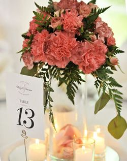 Romantic pink carnations