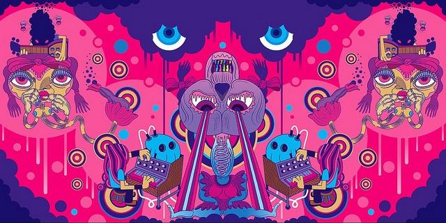 Pete Fowler Super Furrys artwork