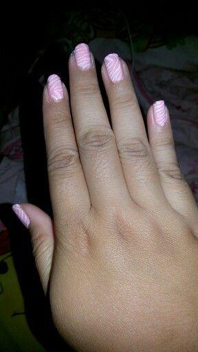 Kuku cantik :) zebra nail