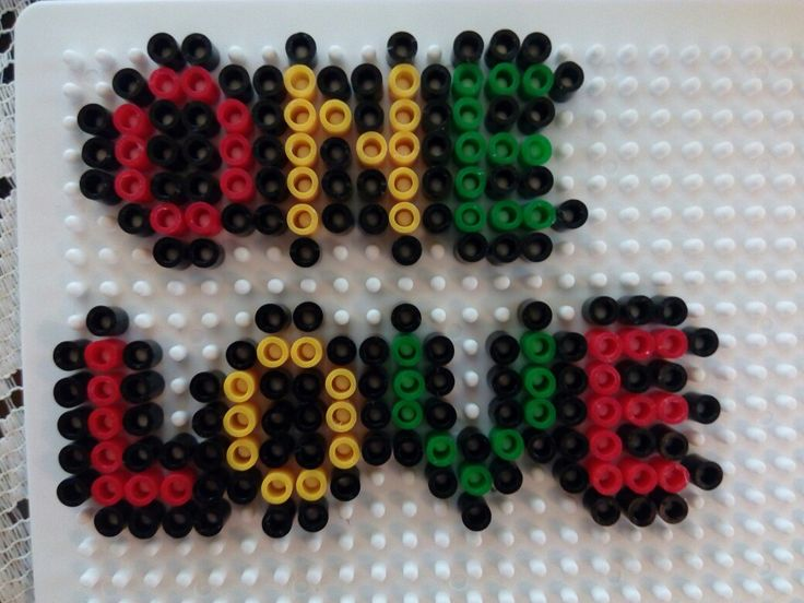 Rasta / Bob Marley perler bead pattern , One Love