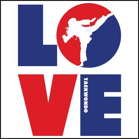 TKD LOVE - Taekwondo T-Shirt - TAEKWONDO LOVE! - JST - Rhino Junction Apparel - 1