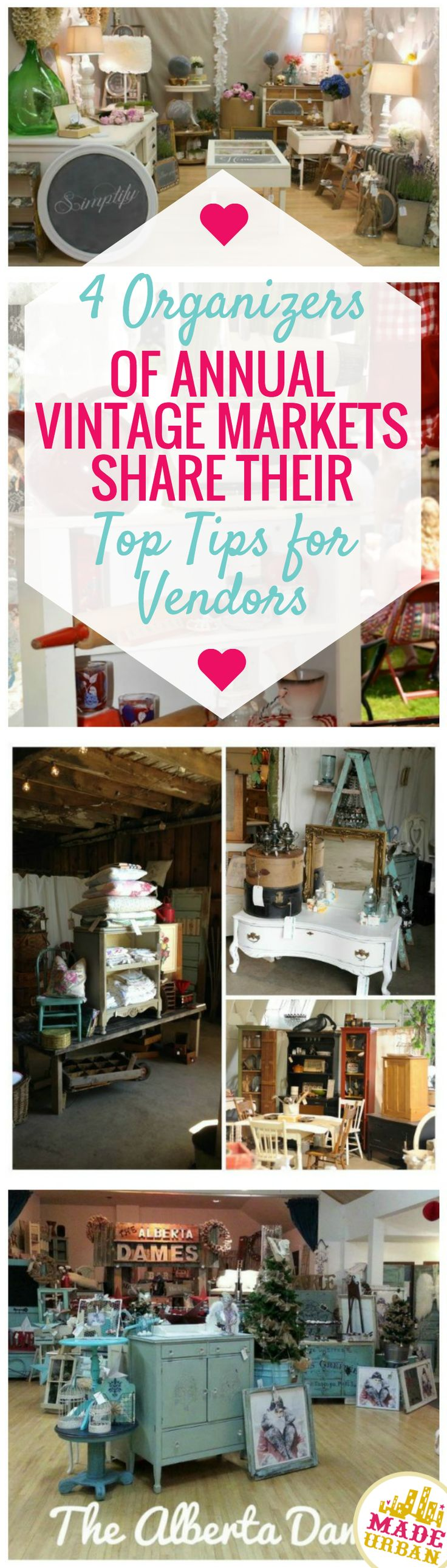Check out some awesome advice from organizers who know a good booth. Increase your sales at vintage and handmade markets.