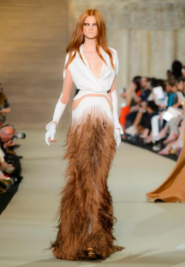 Stéphane Rolland Haute Couture – Autumn/Winter 2012-13    Im putting this dress in shoes cz it reminds me of the cow shoes....good match