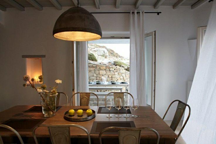 Indoor Dining of Gold Villa in Mykonos: http://instylevillas.net/property/gold-villa-mykonos/