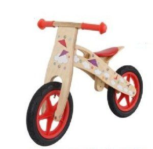 KIDS WOODEN BALANCE TRAINING BIKE CYCLE IN MULTI COLOURS (AirPlane Red): Amazon.co.uk: Sports & Outdoors