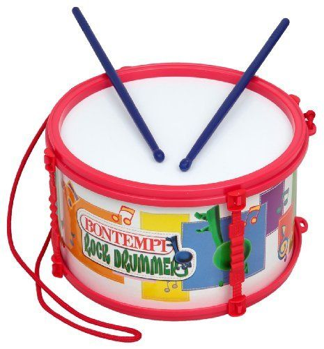 "Bontempi - Marching Drum by Bontempi. $14.99. From the Manufacturer March to the beat of your own drum with the Bontempi Marching Drum. Your little one will love to create rhythms and beats. The marching drum measures 8"" x 4.5"" and comes complete with shoulder strap and sticks. It is constructed of high quality, brightly colored plastic. Inspire creativity and explore the musical talents your little one possesses. Suitable for ages 3 and up. Everyone ..."