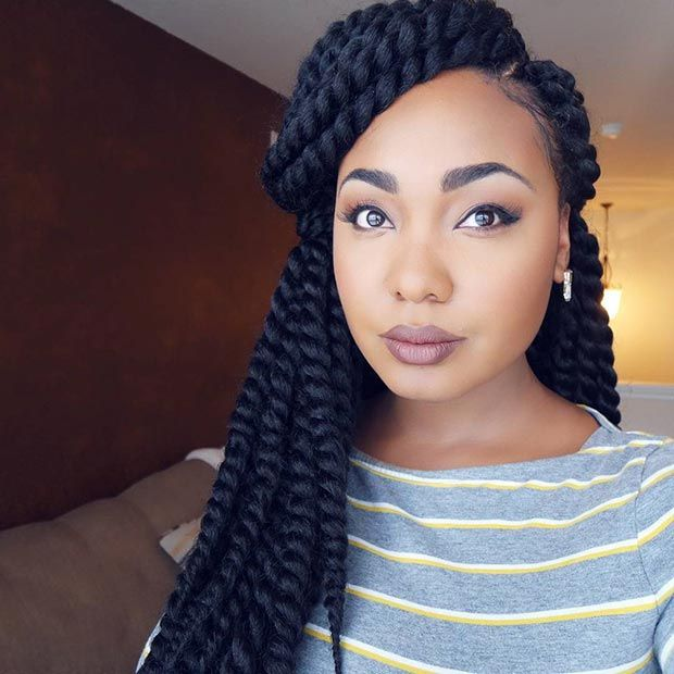 hair styles with scarves 31 stunning crochet twist hairstyles updo half up half 2911