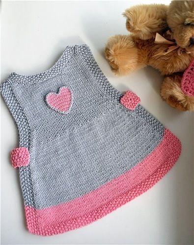 kalpli duz orgu bebek elbisesi