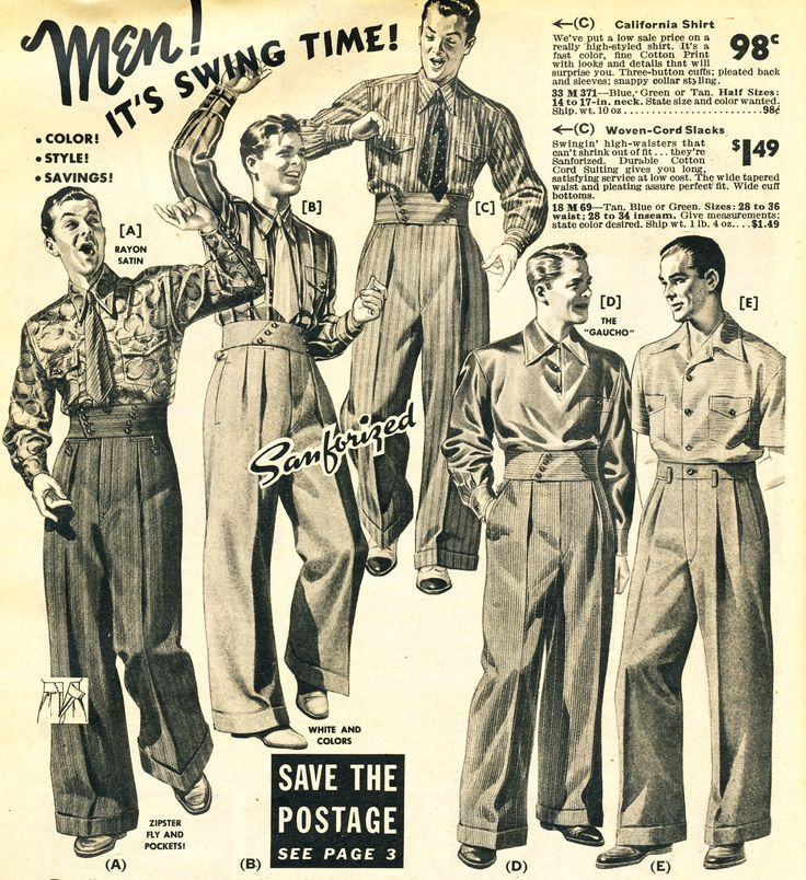 1940′s Swing Dance Clothing  ... what was the 50's style for men? - mens vintage clothing, mens clothing online shop, small mens clothing