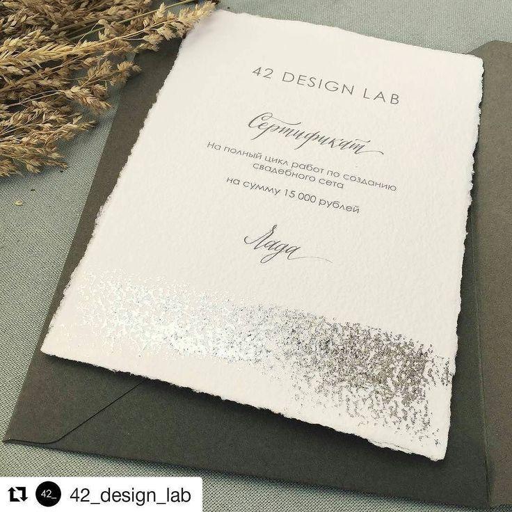 #Repost @42_design_lab (@get_repost)  В праздничных хлопотах #даблDA совсем не было времени показать вам всякую красоту здесь мой свадебный подарок на бумаге от @dikiy_veresk в лаконичном сером конверте ручной работы - как же они подходят друг другу не могу налюбоваться #42_design #dikiyveresk