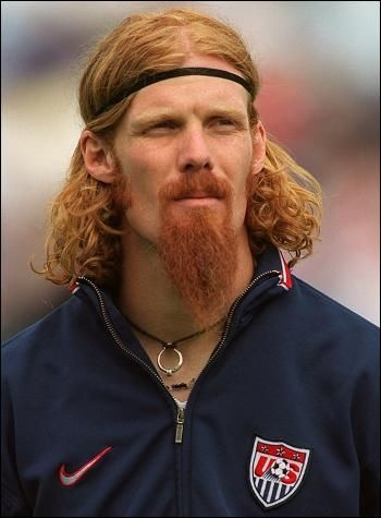 Alexi Lalas, defender for the United States national team in the 1994 FIFA World Cup