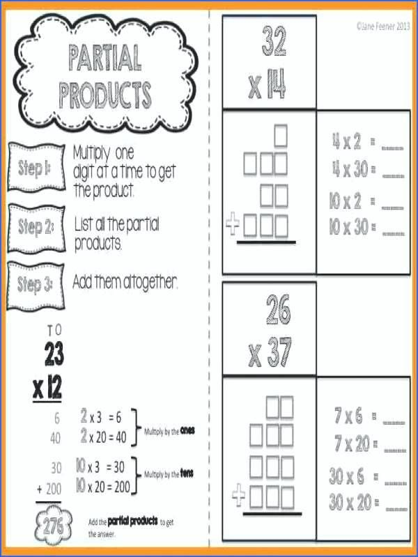 partial products worksheets free product multiplication ...