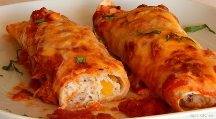 Pepi's kitchen: Enchiladas με κοτόπουλο