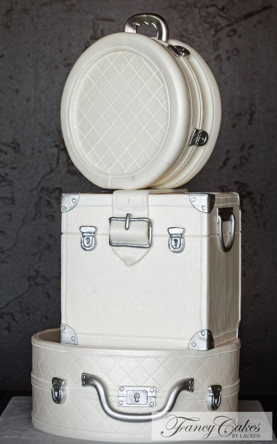 White Luggage Wedding Cake                                                                                                                                                      More
