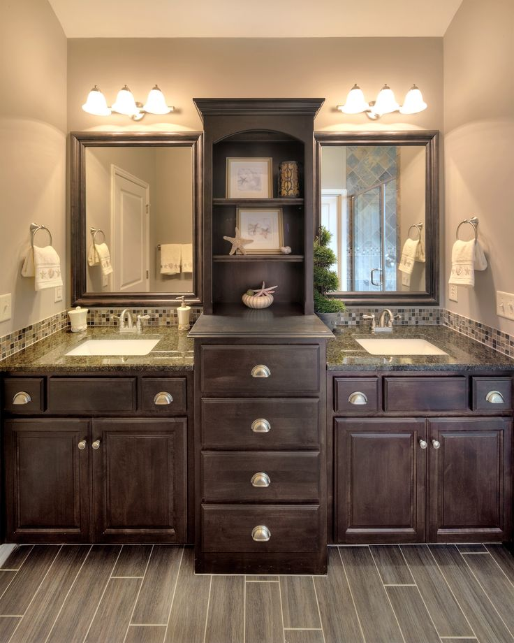 17 Best ideas about Dark Wood Bathroom on Pinterest  Restroom ideas, Bathroom  vanity decor and Dark cabinets bathroom