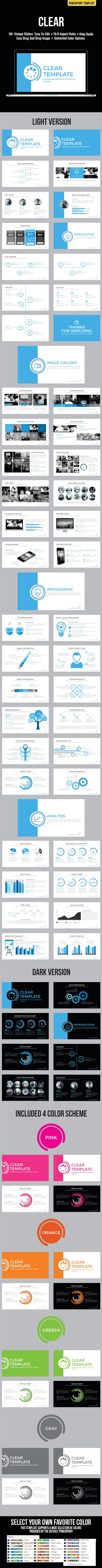 Clear Powerpoint Template #design #slides Download: http://graphicriver.net/item/clear-powerpoint-template/12445795?ref=ksioks