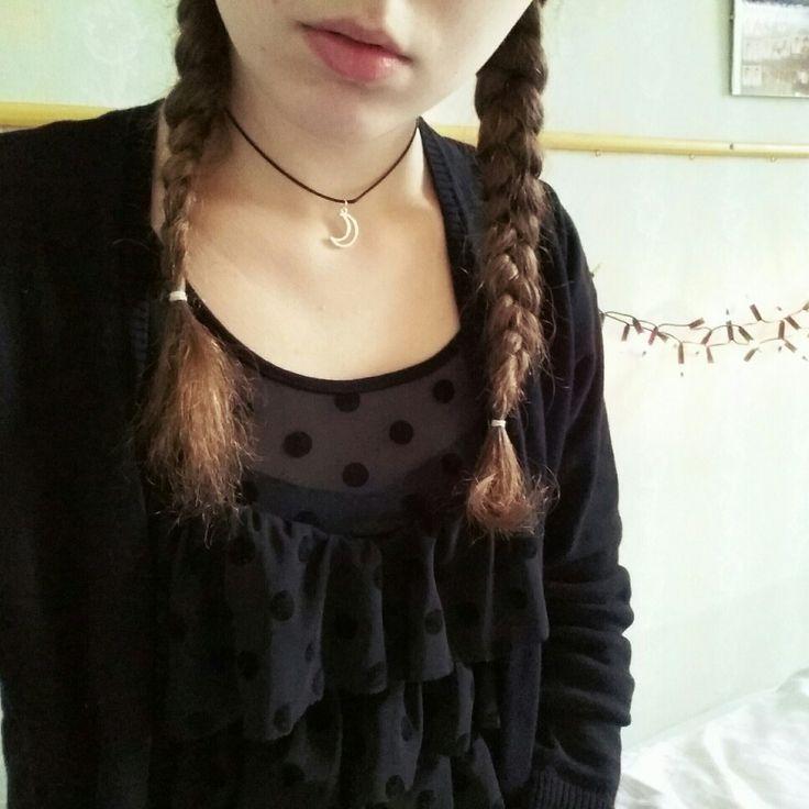 #jewels #accessories #style #grunge #braidedhair #braided #hair #choker #necklace