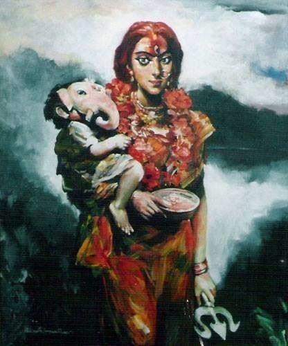 goddess parvati and ganesha