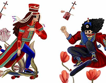 "Check out new work on my @Behance portfolio: ""Mongolian couple"" http://be.net/gallery/40721071/Mongolian-couple"