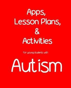 #autism Lessons for Joint Attention, Imitation Skills, Communication, Self-Help Skills, Independent Skills, Pre-Vocational Skills, Social Skills, Play Skills, Sensory Involvement, Basic Concept Mastery, Vocabulary/Literacy, Fine Motor,  Gross Motor. Over 100 starting points and beginning places for creating meaningful activities for young children with autism. (TpT)