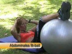 Cienporcientofitness- Sentadillas con mancuerna y abdominales con fitball