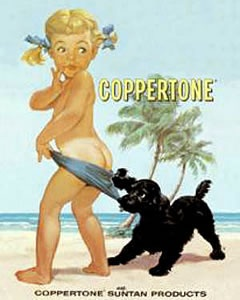 The Coppertone Ad ~ brings back great childhood memories.....