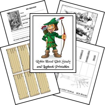 Chapter 19- FREE Robin Hood Lapbook and Unit Study - Elementary - Blessed Beyond A Doubt
