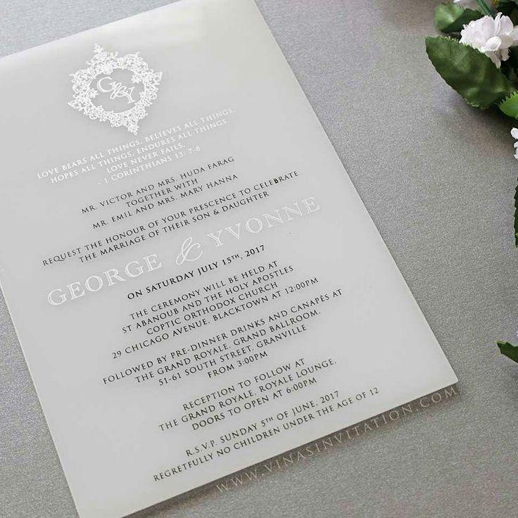 69 best Acrylic Wedding Invitation images on Pinterest