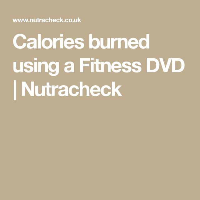 Calories burned using a Fitness DVD | Nutracheck