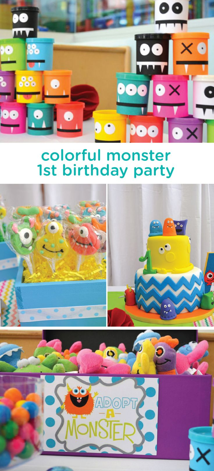 Celebrate your little one with a party that suits his wild personality. This colorful monster themed 1st birthday party is full of creative decorations, delicious treats and kid-friendly activities you can use as inspiration for this amazing celebration.