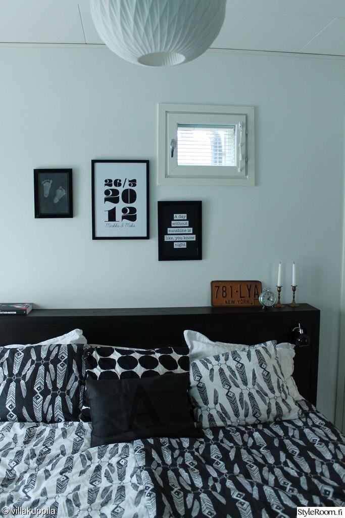 taulukollaasi,makuuhuone,sänky,lakanat,petaus,mustavalkoinen,sängynpääty,koristetyynyt,makuuhuoneen sisustus,makuuhuoneen tekstiilit