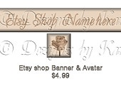 Etsy Banner and Avatar