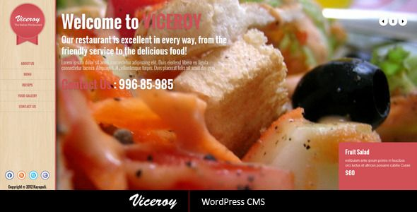Viceroy - Jquery Single page WordPress CMS