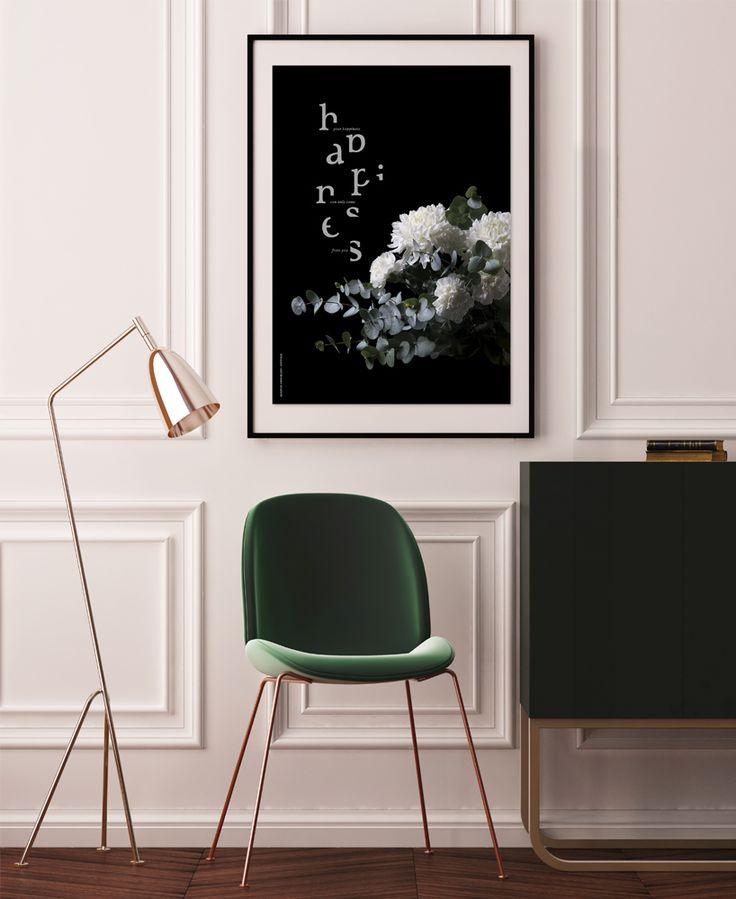 HAPPINESS -art print | Bloom by Armi Helena | bloombyarmihelena.com | @bloombyarmihelena