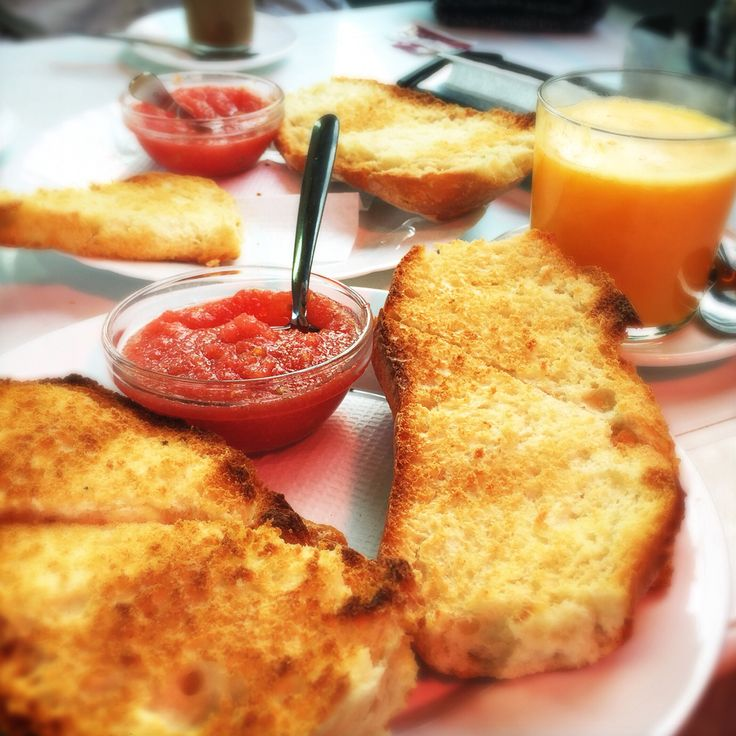 Typical breakfast during Camino in the southern Spain.